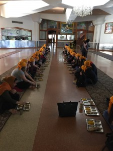 Lunch in the Langar Room.