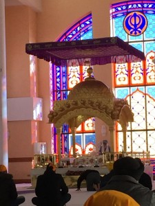 Guru Granith Sahib, the Sikh holy book, treated as if it were a human Guru