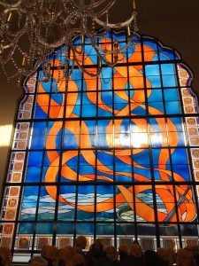 "Stained glass representation of the ""5Ks"""
