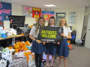Refugees welcome - 3 CVCC students