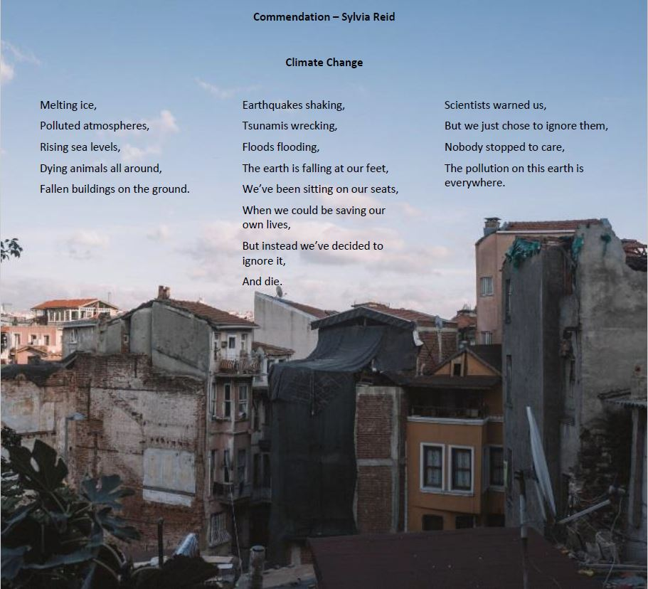 Climate Change Poetry - Commendation1