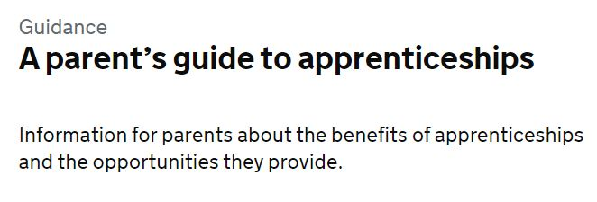 A parent's guide to apprenticeships