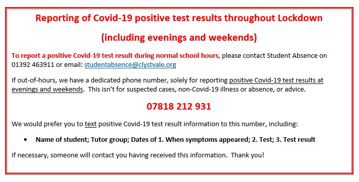 Jan 21 Reporting Covid-19 cases