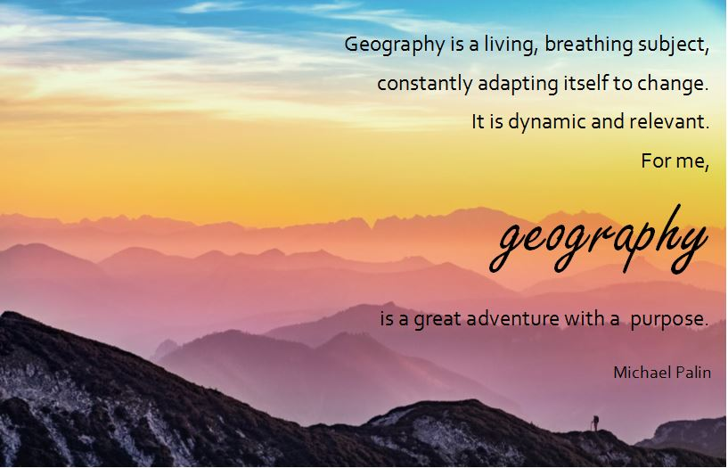 Geography graphic and quote - DIY