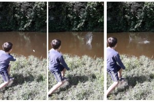 Three Stages of Stone Skimming
